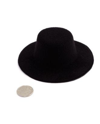 Шляпа круглая д.10см цв.черный арт. МГ-3257-1-МГ0234798