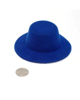 Шляпа круглая д.10см цв.синий арт. МГ-3258-1-МГ0234799