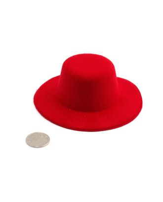 Шляпа круглая д.10см цв.красный арт. МГ-3259-1-МГ0234800