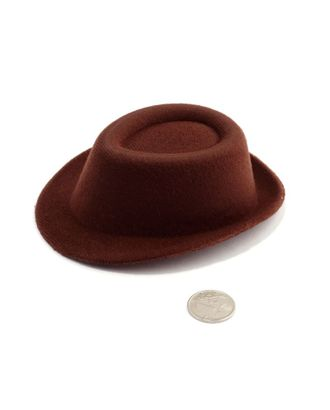 Шляпа мужская р.10х11см цв.коричневый арт. МГ-3292-1-МГ0235260
