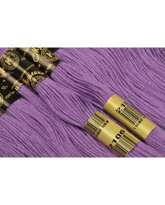 Нитки мулине цв.2106 св.фиолетовый12х10м С-Пб арт. МГ-31718-1-МГ0235437