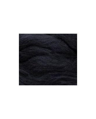 Шерсть для валяния ПЕХОРКА полутонкая шерсть (100%шерсть) 50г цв.002 черный арт. МГ-31898-1-МГ0235884