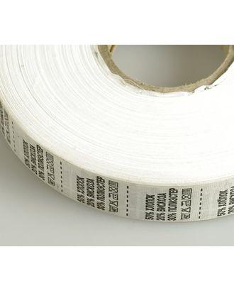 Состав и уход за тканью, Хлопок 50% Вискоза20% полиэстер30% цв.белый 4000шт. арт. МГ-3449-1-МГ0238598