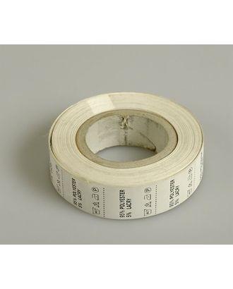 Состав и уход за тканью, Pol 95% Lycra 5%, цв.белый, 4000шт. арт. МГ-3525-1-МГ0239544