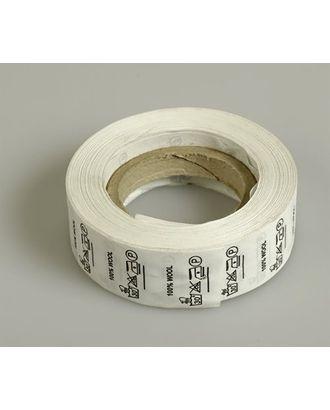 Состав и уход за тканью, Wool 100%, цв.белый, 1000шт. арт. МГ-3531-1-МГ0239550