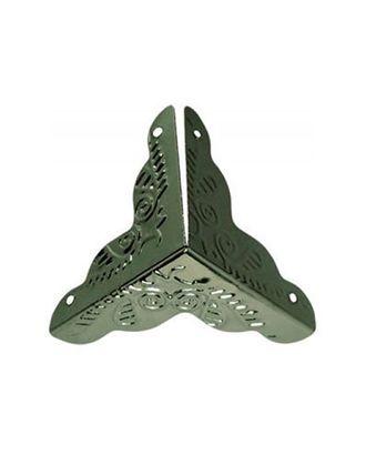 ШУМ3.0.5 Декоративный трехгранный уголок для шкатулок уп.8 шт. 25х25 мм арт. МГ-33135-1-МГ0241745