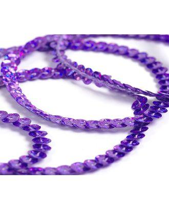 Пайетки на нитях ш.0,6см Laser Bright цв.50126 пурпурный арт. МГ-3719-1-МГ0242536