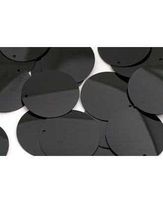 Пайетки россыпью Ideal 30мм цв.A075 черный уп.50г арт. МГ-3738-1-МГ0242649