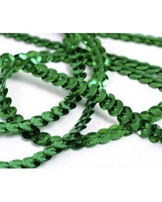 Пайетки на нитях ш.0,6см Silver Base цв.04 зеленый арт. МГ-3814-1-МГ0243766