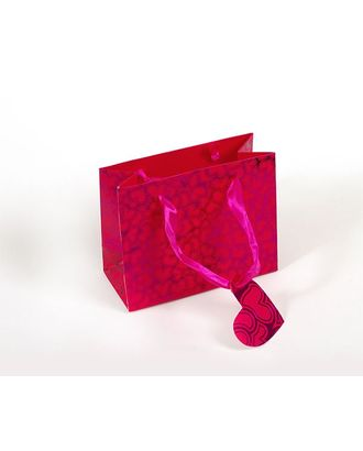 Пакет подарочный 14,2х11,6х6,5 цв.розовый арт. МГ-33793-1-МГ0245433