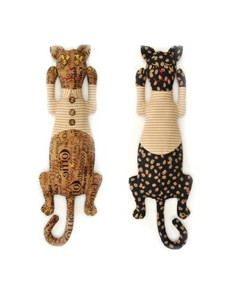 """Набор для изготовления текстильной игрушки-грелки с кофейными зернами """"Кот День-Ночь"""" 34,5см арт. МГ-3918-1-МГ0245569"""