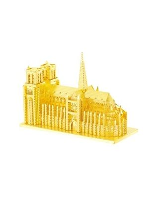 Объемная металлическая 3D модель Notre Dame Cathedral 10х4,4х7см арт. МГ-34847-1-МГ0256274