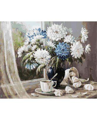 К по номерам Белоснежка Хризантемы-цветы запоздалые 40х50 см арт. МГ-35317-1-МГ0258840