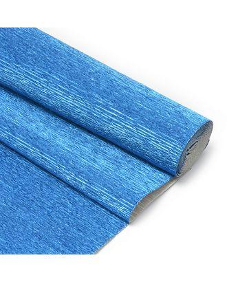 Бумага гофрированная Италия 50см х 2,5м 180г/м² цв.805 синяя арт. МГ-35354-1-МГ0259037