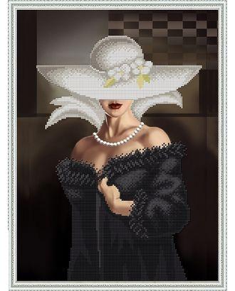 Рисунок на ткани бисером БЛАГОВЕСТ Прекрасная незнакомка 28х38 см арт. МГ-35562-1-МГ0260163