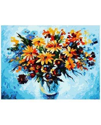 Живопись на к Белоснежка Разноцветные ромашки 30х40 см арт. МГ-35624-1-МГ0260603