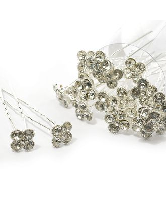 Шпильки со стразами цв.серебро 7 см уп.20 шт арт. МГ-70577-1-МГ0262015