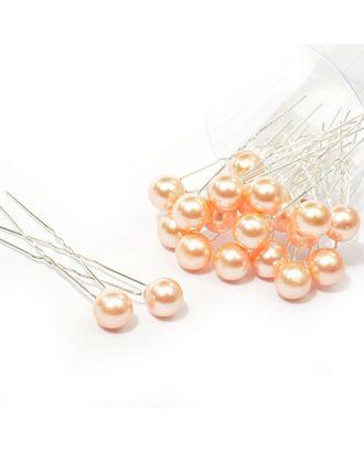 Шпильки с бусинами12 см цв.св.розовый уп.20 шт арт. МГ-70592-1-МГ0262030