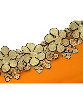 Кружево венецианское ZX179 ш.9см, цв.золото/желтый арт. МГ-4567-1-МГ0263753