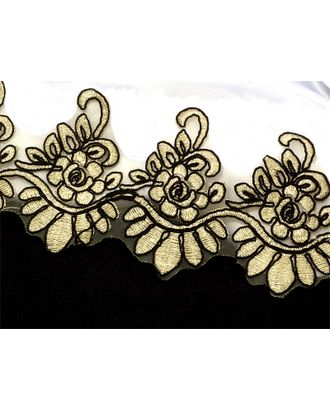 Кружево венецианское ZX183 ш.9,5см, цв.золото/желтый арт. МГ-4568-1-МГ0263754