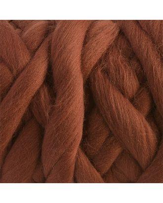 """Пряжа для вязания КАМТ """"Супер толстая"""" (100% шерсть п/т) 1х500г/40м цв.121 коричневый арт. МГ-36661-1-МГ0268215"""