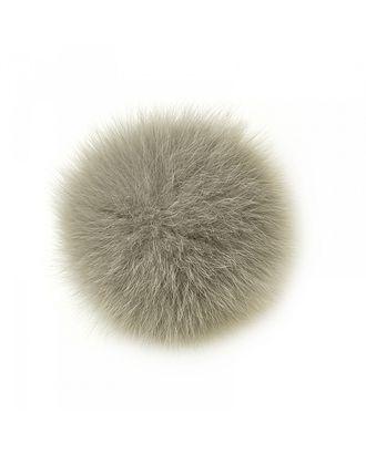 Помпон натуральный Песец 10см цв.серый арт. МГ-4916-1-МГ0270991