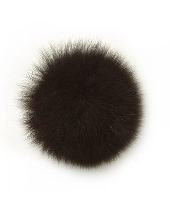 Помпон натуральный Песец 10см цв.т.коричневый арт. МГ-4917-1-МГ0270992