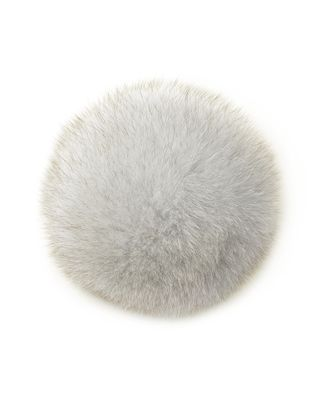 Помпон натуральный Песец 15см цв.натуральный арт. МГ-4922-1-МГ0270998