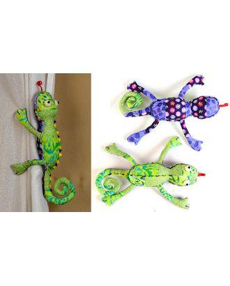 """Набор для изготовления текстильной игрушки с магнитами в стиле пэчворк """"Хамелеончик"""" 28 см арт. МГ-5045-1-МГ0308644"""