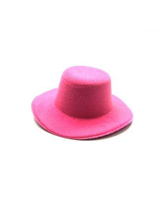 Шляпа (круглая) д.10см цв.розовый арт. МГ-5461-1-МГ0359309