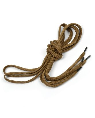 Шнурки плоские 9 мм 7с859 длина 120 см, компл.2шт, цв.т.бежевый арт. МГ-5632-1-МГ0362820