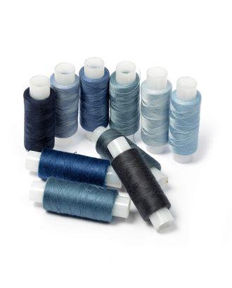 Нить для штопки джинсы цв.синий ассорти 10х200м арт. МГ-40095-1-МГ0368859