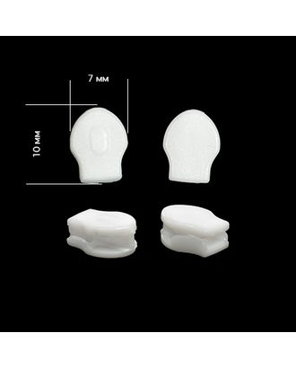 Бегунок пластиковый без слайдера Т3 цв.F101 белый арт. МГ-79370-1-МГ0369565