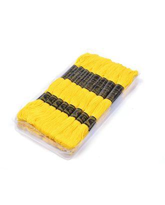 Нитки мулине IDEAL (100% хлопок) 24х8м цв.104 желтый арт. МГ-40238-1-МГ0370282