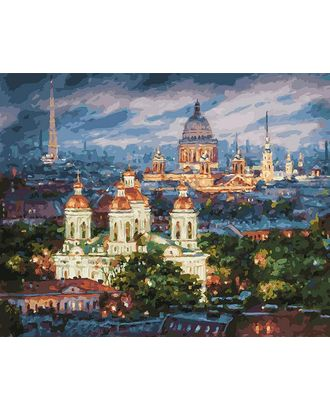 К по номерам Белоснежка Все краски вечера. Санкт-Петербург 40х50 см арт. МГ-40285-1-МГ0371083