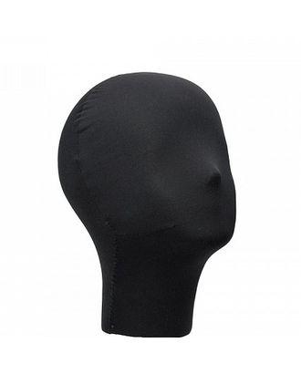 Манекен головы Р-55 черный (без подставки) арт. МГ-71866-1-МГ0371282
