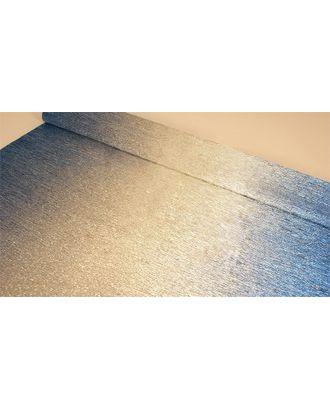 Бумага гофрированная с переходом Италия 50см х 2,5м 180г/м² цв.802/2 серебряно-синий арт. МГ-40603-1-МГ0372712
