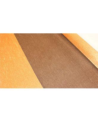 Бумага гофрированная с переходом Италия 50см х 2,5м 180г/м² цв.808/6 бронза-коричневый арт. МГ-40604-1-МГ0372713