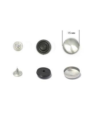 Заготовки для обтяж.пуг. №24 (15мм) ножка - пластик цв.черный на гвоздике арт. МГ-6233-1-МГ0373467