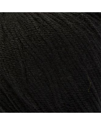 """Пряжа для вязания КАМТ """"Карамелька"""" (100% акрил) 10х50г/175м цв.003 черный арт. МГ-40722-1-МГ0375070"""