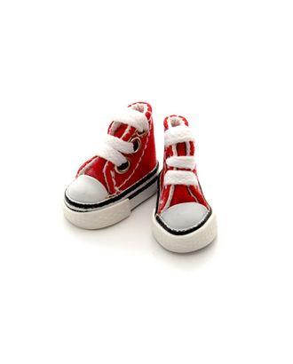 Кеды для кукол размер подошвы 3,9см выс.3см пара, цв.красный арт. МГ-6295-1-МГ0375325
