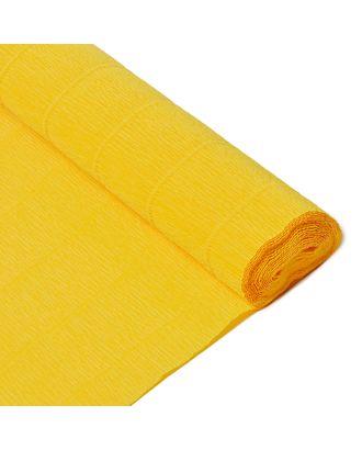 Бумага гофрированная Италия 50см х 2,5м 180г/м² цв.017/Е5 солнечно-желтая арт. МГ-40774-1-МГ0375610