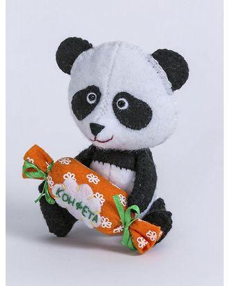 """Набор для изготовления текстильной игрушки из фетра """"Панда"""" 11,5см арт. МГ-6423-1-МГ0487172"""
