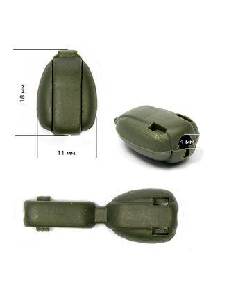Наконечник крокодильчик цв.оливковый арт. МГ-79769-1-МГ0489317