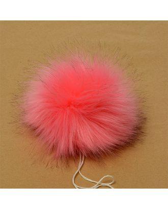 Помпон искусственный мех Песец 17-18см цв.ярк.розовый №1 А арт. МГ-88508-1-МГ0493731