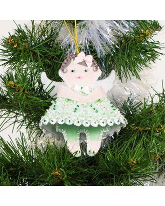 Набор для шитья и вышивания сувенир Ангел в зеленом арт. МГ-6515-1-МГ0494072
