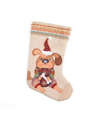 Набор для шитья и вышивания носочек Снежный пес 19х30 см арт. МГ-6528-1-МГ0494085