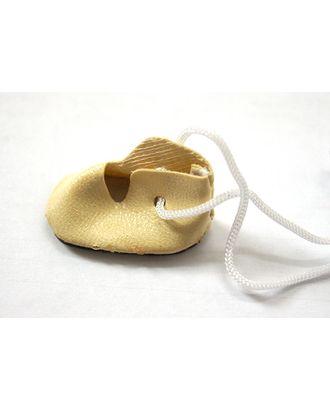 Ботиночки для кукол 45мм цв.молочный уп.2 пары арт. МГ-6744-1-МГ0502920