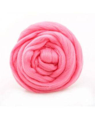 """Шерсть для валяния ТРО """"Гребенная лента"""" (тонкая мериносовая шерсть) 100г цв.0160 розовый арт. МГ-44273-1-МГ0532723"""