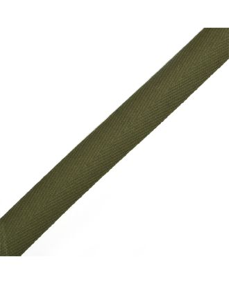 Тесьма киперная ш.2,2см хлопок 1,8г/см цв.оливковый арт. МГ-7046-1-МГ0533958